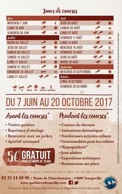 Saison 2017 Hippodrome de Clairefontaine